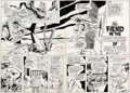 Original Comic Art:Panel Pages, Curt Swan and Murphy Anderson Action Comics #407 Double Page Spread 2-3 Original Art (DC, 1971).... (Total: 2 Original Art)