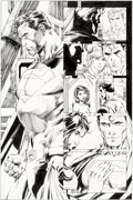 Original Comic Art:Panel Pages, Jim Lee and Scott Williams Superman #213 Page 14 Original Art (DC, 2005)....