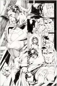 Jim Lee and Scott Williams Superman #213 Page 14 Original Art (DC, 2005)