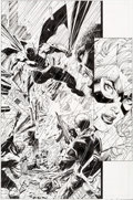 Original Comic Art:Panel Pages, Jim Lee and Scott Williams All-Star Batman & Robin, the Boy Wonder #6 Story Page 22 Black Canary Original Art (DC,...
