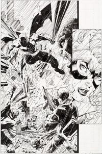 Jim Lee and Scott Williams All-Star Batman & Robin, the Boy Wonder #6 Story Page 22 Black Canary Original Art (D...