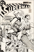 Original Comic Art:Covers, Rich Buckler and Joe Rubinstein Superman #325 Cover Original Art (DC, 1978)....