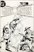 Original Comic Art:Covers, Dick Giordano Green Lantern #141 Unpublished Cover Original Art (DC, 1981)....