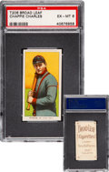 Baseball Cards:Singles (Pre-1930), 1909-11 T206 Broad Leaf Chappie Charles PSA EX-MT 6 - The Finest of Only Two on the PSA Census! ...