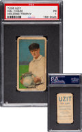 Baseball Cards:Singles (Pre-1930), 1909-11 T206 Uzit Hal Chase (Holding Trophy) PSA Poor 1 - Pop One, One Higher. ...