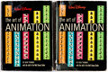 Books:Miscellaneous, Walt Disney The Art of Animation by Bob Thomas First and Second Printing Books Group (Simon and Shuster/Golden Press, ... (Total: 2 Items)
