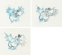 Aladdin Iago Animation Drawings Sequence of 3 (Walt Disney, 1992).... (Total: 3 Items)