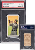 Baseball Cards:Singles (Pre-1930), 1909-11 T206 Hindu-Brown Harry Bay PSA EX-MT 6 - Pop One, None Higher for Brand! ...