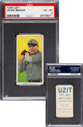 Baseball Cards:Singles (Pre-1930), 1909-11 T206 Uzit Heinie Berger PSA VG-EX 4 - The Highest Graded for Brand! ...