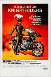 "Knightriders (United Artists, 1981). Folded, Very Fine-. One Sheet (27"" X 41""). Boris Vallejo Artwork. Action..."