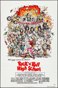 "Movie Posters:Rock and Roll, Rock 'n' Roll High School (New World, 1979). Folded, Very Fine+. One Sheet (27"" X 41"") Will Stout Artwork. Rock and Roll.. ..."