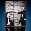 """Medical:Osteology , James Watson & Francis Crick with a """"DNA"""" Model Signed Photograph. 8"""" x 10"""". ..."""