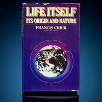 Francis Crick Signed Book Life Itself: Its Origins and Nature First Edition