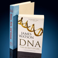 James Watson Signed Books DNA: The Secret of Life & Genes, Girls and Gamow  ... (Total: 2 Items)