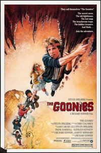"The Goonies (Warner Brothers, 1985). Rolled, Very Fine-. One Sheet (27"" X 41""). Drew Struzan Artwork. Adventur..."
