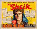 "Movie Posters:Romance, The Sheik (Paramount, R-1938). Fine+ on Cardstock. Half Sheet (22"" X 28""). Romance.. ..."