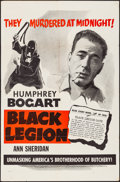 """Movie Posters:Crime, Black Legion (Dominant Pictures, R-1950s). Folded, Very Fine-. OneSheet (27"""" X 41"""") & Lobby Card Set of 4 (11"""" X 14""""). Crim...(Total: 5 Items)"""