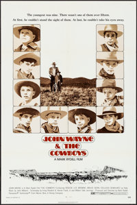 """The Cowboys (Warner Brothers, 1972). Folded, Very Fine+. One Sheet (27"""" X 41"""") & Lobby Card Set of 8 (..."""