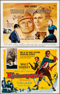 """Movie Posters:Adventure, Kidnapped & Other Lot (Buena Vista, 1960). Rolled, Very Fine-.Half Sheets (4) (22"""" X 28"""") Paul Wenzel Artwork. Adventure.. ...(Total: 4 Items)"""