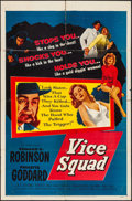 "Movie Posters:Crime, Vice Squad (United Artists, 1953). Folded, Overall: Fine/Very Fine.One Sheet (27"" X 41"") & Lobby Card Set of 8 (11"" X 14"")....(Total: 9 Items)"