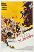 "Movie Posters:War, Von Ryan's Express (20th Century Fox, 1965). Folded, Overall:Fine/Very Fine. One Sheet (27"" X 41"") & Lobby Card Set of 8(1... (Total: 9 Items)"