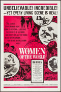 """Movie Posters:Documentary, Women of the World (Embassy, 1963). Folded, Very Fine-. One Sheet (27"""" X 41""""), Lobby Card Set of 4 (11"""" X 14""""), & Cut Pressb... (Total: 6 Items)"""