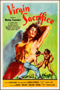 "Movie Posters:Adventure, Virgin Sacrifice (Releasing Corporation of Independent Producers,1959). Folded, Very Fine-. One Sheet (27"" X 41""). Adventur..."
