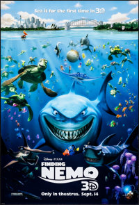 "Finding Nemo (Disney, 2003). Rolled, Very Fine. One Sheet (27"" X 40"") DS Advance 3-D Style. Animation"