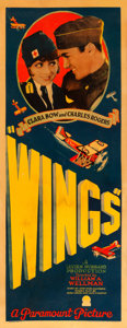 "Movie Posters:Academy Award Winners, Wings (Paramount, 1927). Rolled, Very Fine-. Insert (14"" X 36"")....."