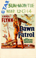 "Movie Posters:War, The Dawn Patrol (Warner Brothers, 1938). Very Fine-. Window Card (14"" X 22"").. ..."