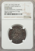 Great Britain, Great Britain: Henry VI (1st Reign, 1422-1461) Groat (4 Pence) ND(1431-1432/3) VF Details (Environmental Damage) NGC,...