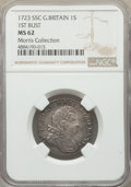 """Great Britain, Great Britain: George I """"South Sea Company"""" Shilling 1723-SSC MS62 NGC,..."""