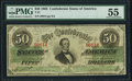 Confederate Notes:1863 Issues, T57 $50 1863 PF-15 Cr. UNL PMG About Uncirculated 55.. ...