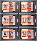 Baseball Cards:Sets, 1951 Wheaties Unfolded Boxes High-Grade Complete Set (6). ...