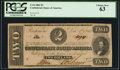 Confederate Notes:1862 Issues, T54 $2 1862 PF-11 Cr. 392 PCGS Choice New 63.. ...