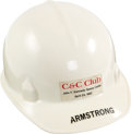 Explorers:Space Exploration, Neil Armstrong's Personalized NASA / C & C Club Hard Hat, April 23, 1982, Directly From The Armstrong Family Collection™, ...