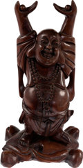 Explorers:Space Exploration, Giant Leap World Tour: Large Wooden Happy Buddha Statue Directly From The Armstrong Family Collection™, CAG Certified. ...