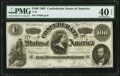 Confederate Notes:1862 Issues, T49 $100 1862 PF-2 Cr. 348 PMG Extremely Fine 40 EPQ.. ...