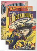 Silver Age (1956-1969):Adventure, Blackhawk Group (Quality and DC, 1953-59) Condition: Average VG. This group includes #69, 107, 115, 119, 120, 122, 124, 125,... (Total: 17 Comic Books Item)