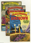 Silver Age (1956-1969):Adventure, Challengers of the Unknown Group (DC, 1959-64) Condition: Average VG-. This group contains issues #9, 14, 18, 22, 28, 37, 38... (Total: 8 Comic Books Item)