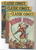Golden Age (1938-1955):Classics Illustrated, Classic Comics #7-11 and 13 Group (Gilberton, 1942-43) Condition:Average GD/VG. This group consists of six comics: Robin ... (Total:6 Comic Books Item)