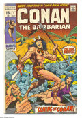 Bronze Age (1970-1979):Superhero, Conan the Barbarian #1 (Marvel, 1970) Condition: FN+. First comicbook appearance of Conan. Barry Smith cover and art. Overs...