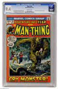 Bronze Age (1970-1979):Horror, Fear #10 (Marvel, 1972) CGC NM 9.4 Off-white pages. Beginning ofMan-Thing's first solo series. Gray Morrow cover. Morrow an...