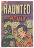 Golden Age (1938-1955):Horror, Haunted Thrills #17 (Farrell, 1954) Condition: VG. Pre-Code horrorfrom Ajax-Farrell. Overstreet 2004 VG 4.0 value = $40....