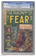 Golden Age (1938-1955):Horror, Haunt of Fear #18 (EC, 1953) CGC VF- 7.5 Off-white to white pages.Ray Bradbury biography and story adaptations. Graham Inge...