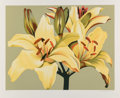 Prints & Multiples:Print, Lowell Nesbitt (1933-1993). Lilies on Green, 1980. Serigraph in colors wove paper. 35 x 42-3/8 inches (88.9 x 107.6 cm) ...