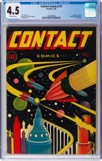Contact Comics #12 (Aviation Press, 1946) CGC VG+ 4.5 Off-white pages