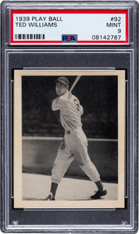 1939 Play Ball Ted Williams #92 PSA Mint 9