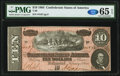 Confederate Notes:1864 Issues, T68 $10 1864 PF-38 Cr. 550 PMG Gem Uncirculated 65 EPQ.. ...