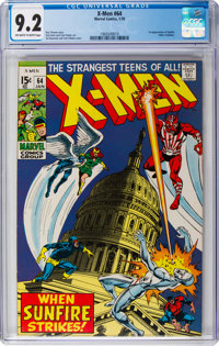X-Men #64 (Marvel, 1970) CGC NM- 9.2 Off-white to white pages